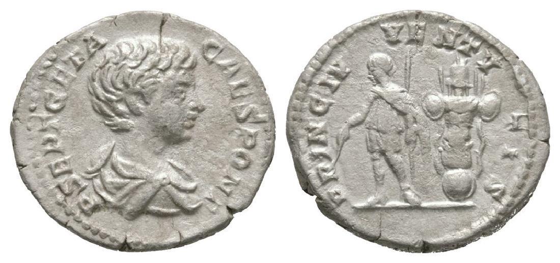 Geta - Emperor and Trophy Denarius