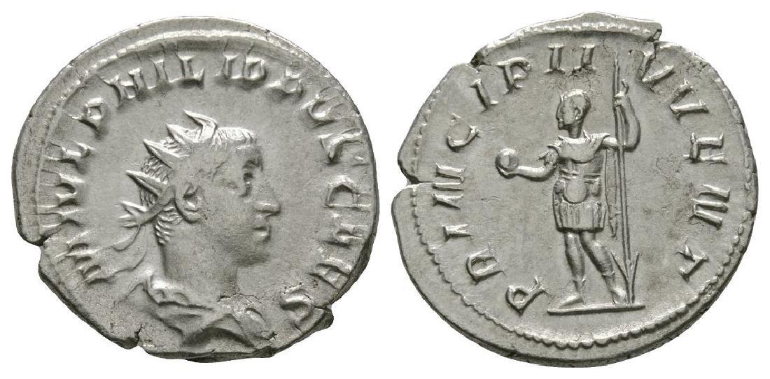 Phillip II - Prince Standing Antoninianus