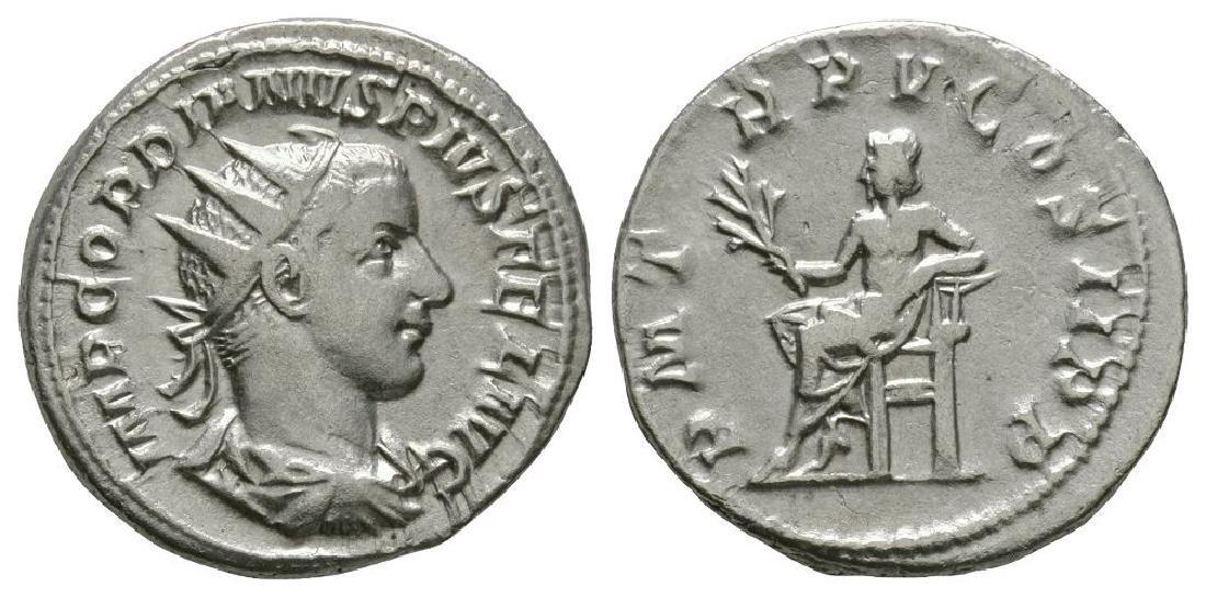 Gordian III - Apollo Seated Antoninianus