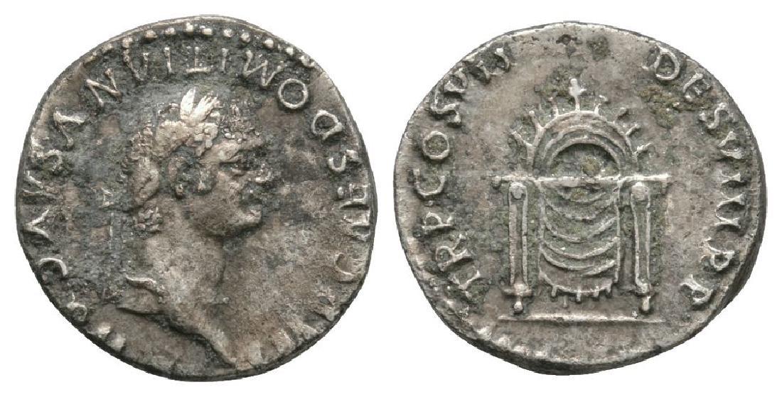 Domitian - Altar Denarius