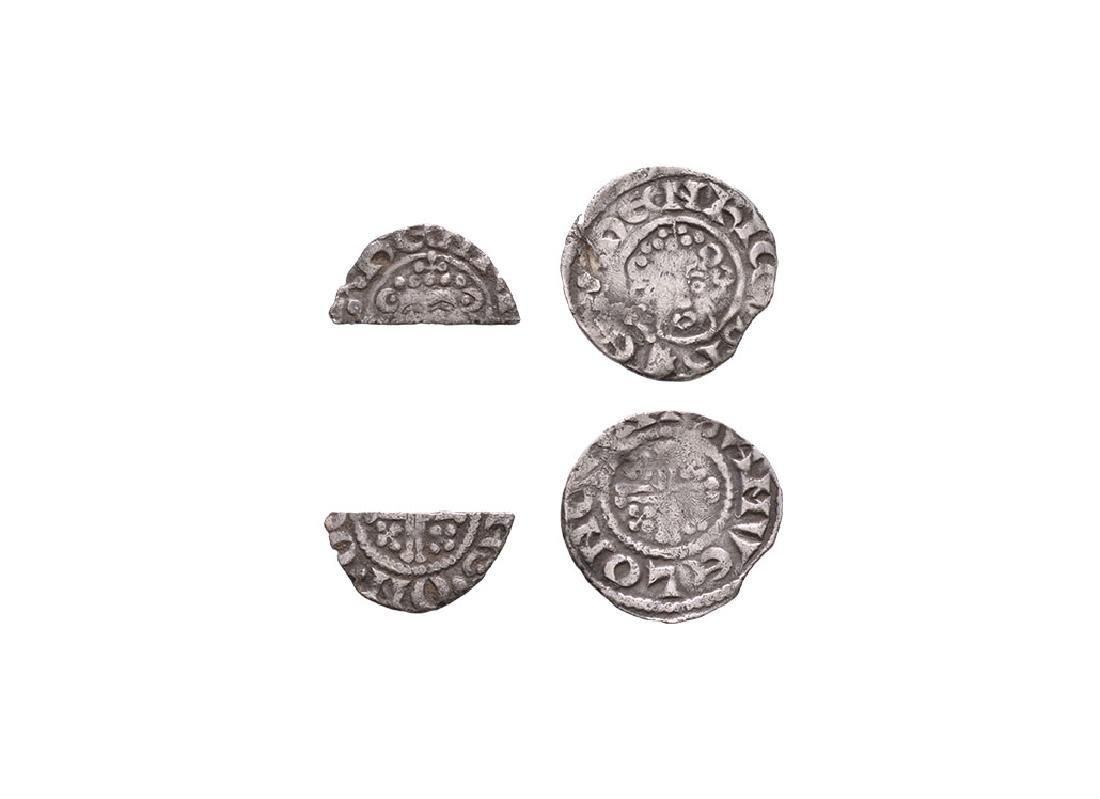 John & Henry III - SC Penny & Cut Halfpenny [2]