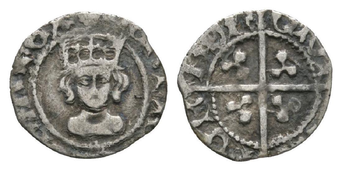 Henry VII - London - Long Cross Halfpenny