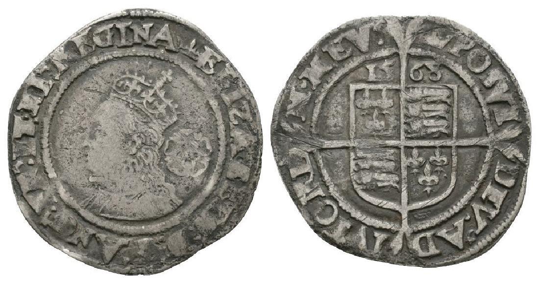 Elizabeth I - 1568 - Sixpence