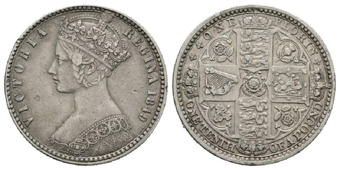 Victoria - 1849 - Godless Florin
