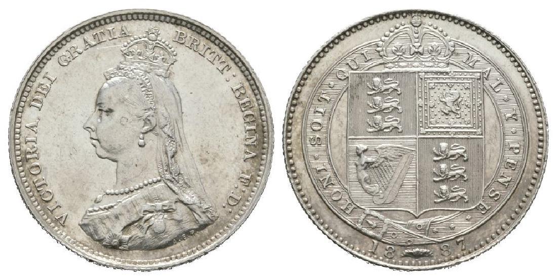 Victoria - 1887 -Shilling