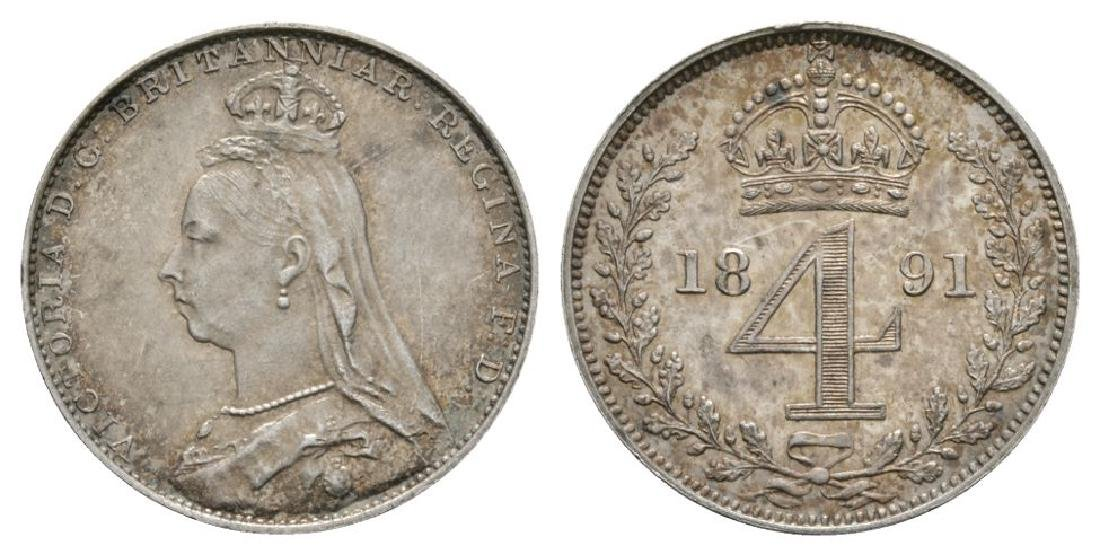 Victoria - 1891 - Maundy Fourpence