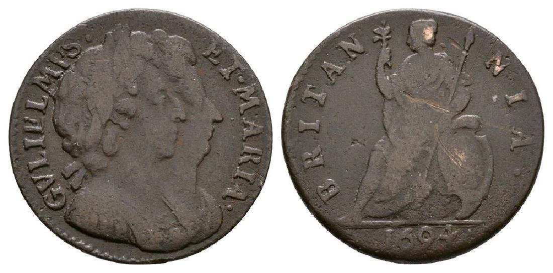 William and Mary - 1694 - Farthing