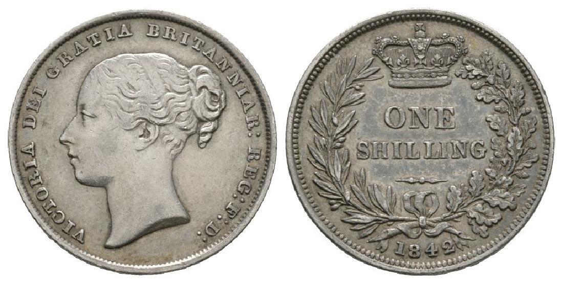 Victoria - 1842 - Shilling