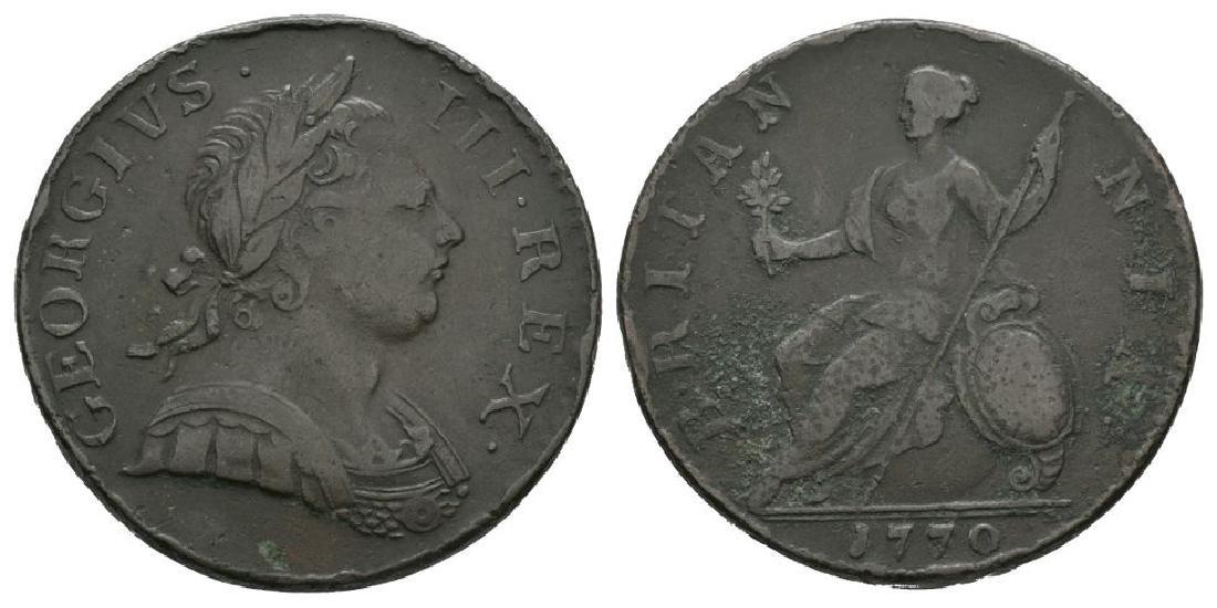 George III - 1770 - Halfpenny
