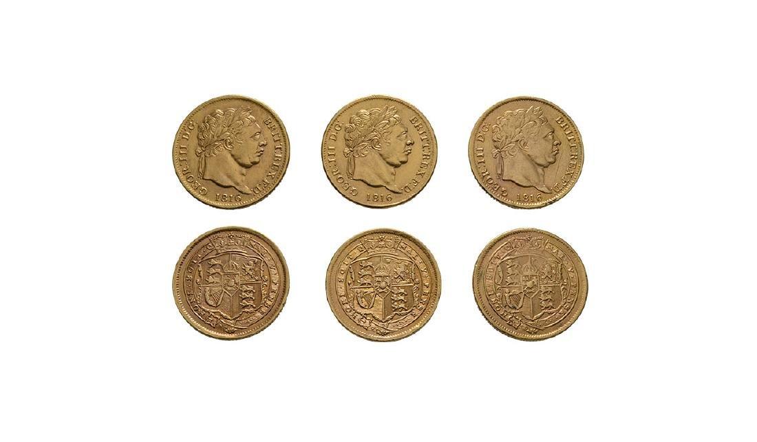 George III - 1816 - Gilded Shillings [3]