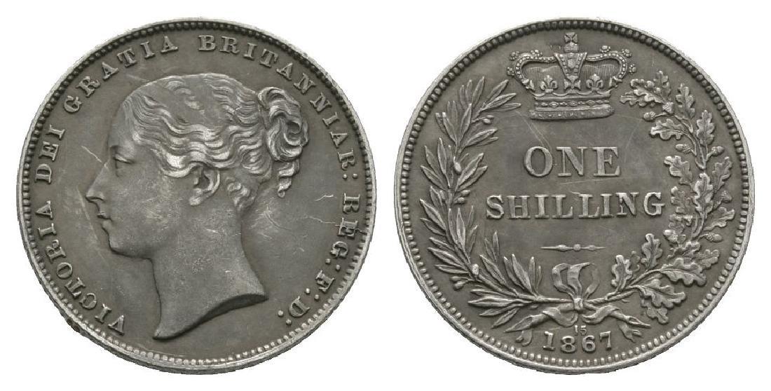 Victoria - 1867 Die 15 - Shilling