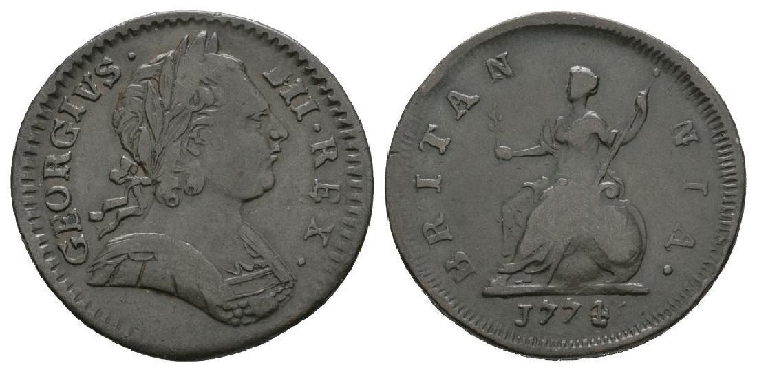 George III - 1774 - Farthing