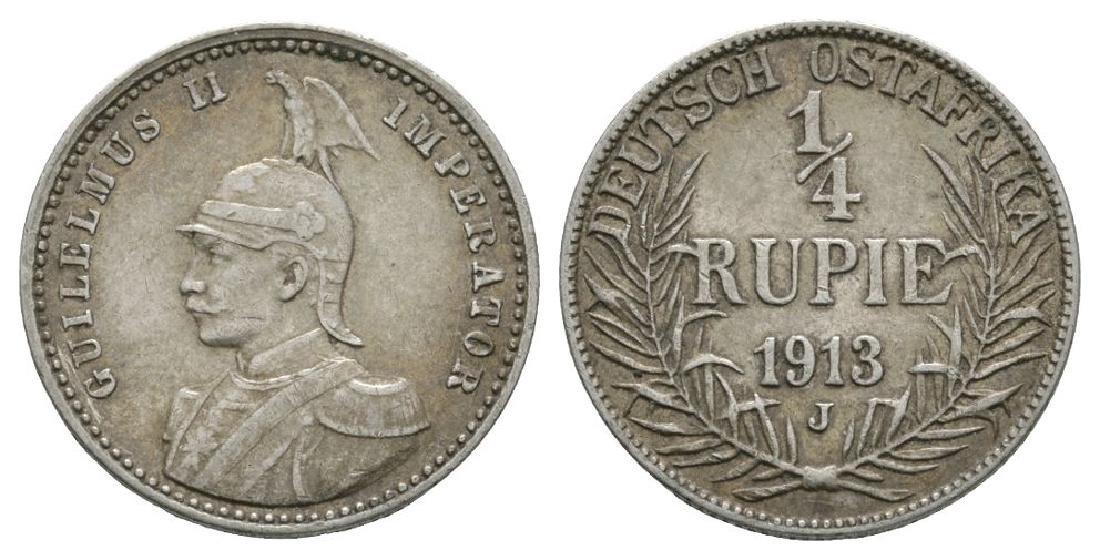 German East Africa - 1913 J - 1/4 Rupee