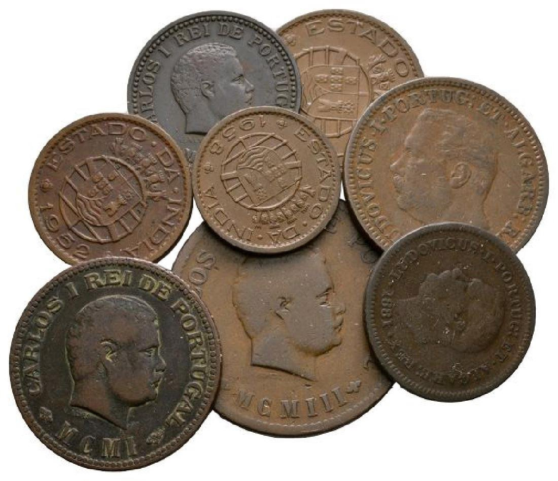India - Portuguese - Mixed Coppers [8]