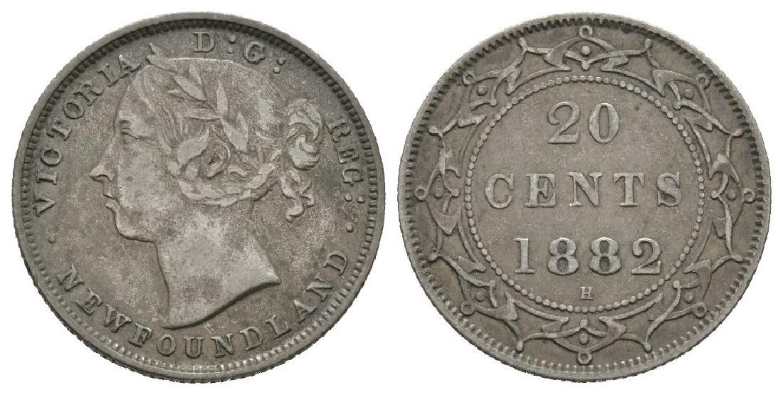 Canada - Newfoundland - 1882 H - 20 Cents