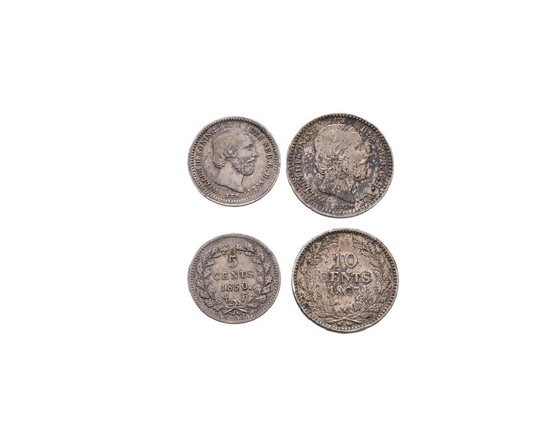 Netherlands - 1850-1863 - 5 and 10 Cents
