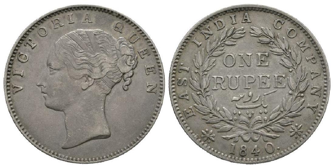 India - Victoria - 1840 - Madras Rupee