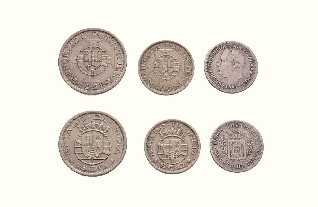 India - Portuguese - 1/4 R, 60 Cs & Escudo [3]