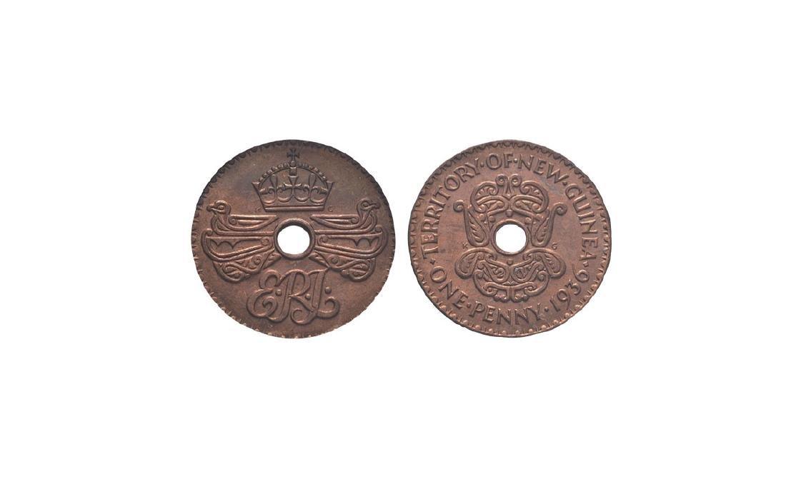 New Guinea - Edward VIII - 1936 - Penny