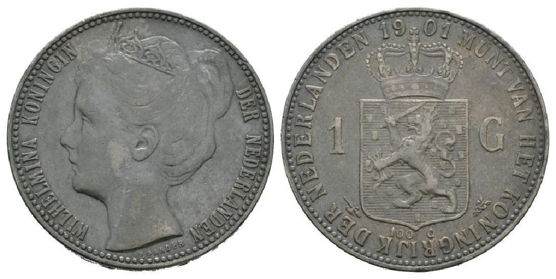 World Coins - Netherlands - 1901 - 1 Gulden