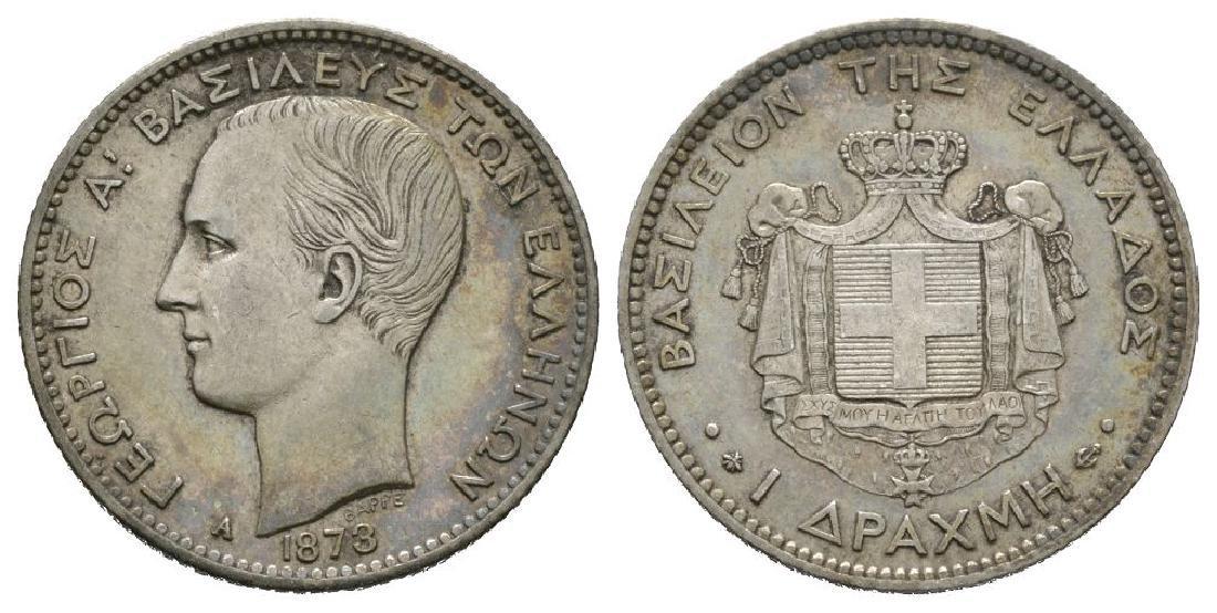 World Coins - Greece - 1873 A - 1 Drachma