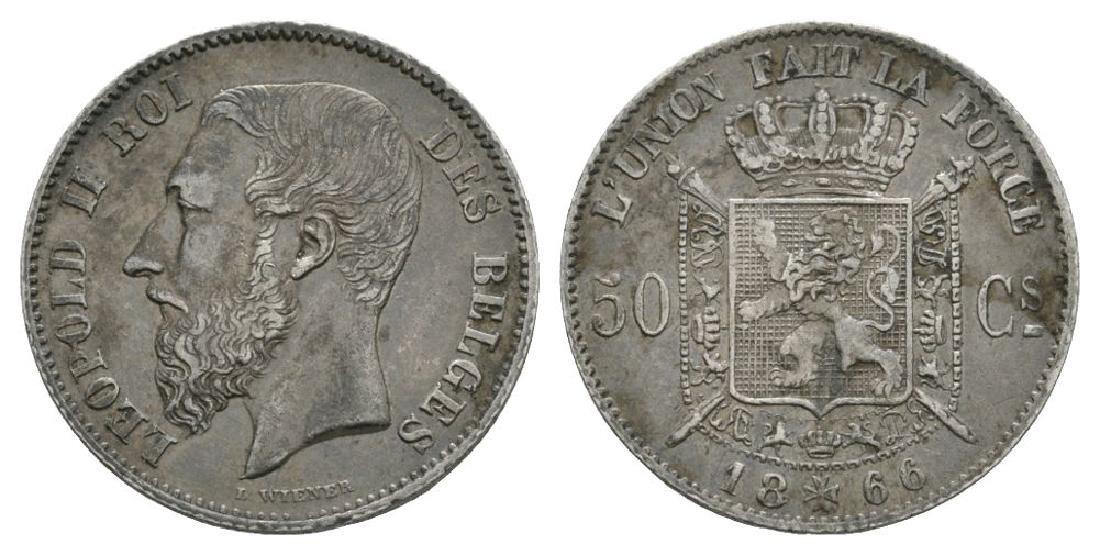 Belgium - 1866 DES BELGES - 50 Centimes