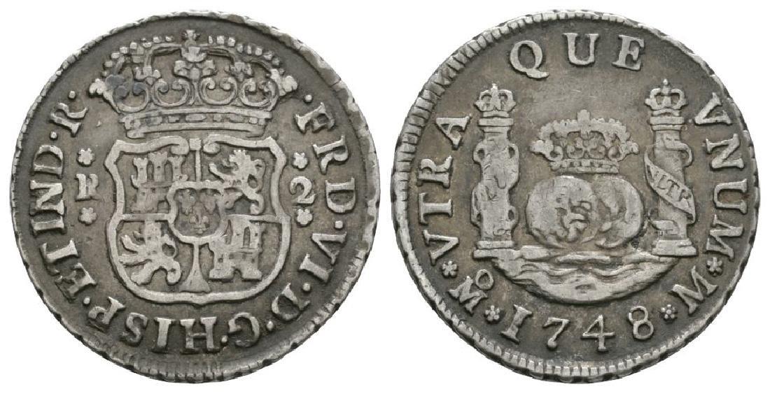 World Coins - Mexico - 1748 - Pillar 2 Reales