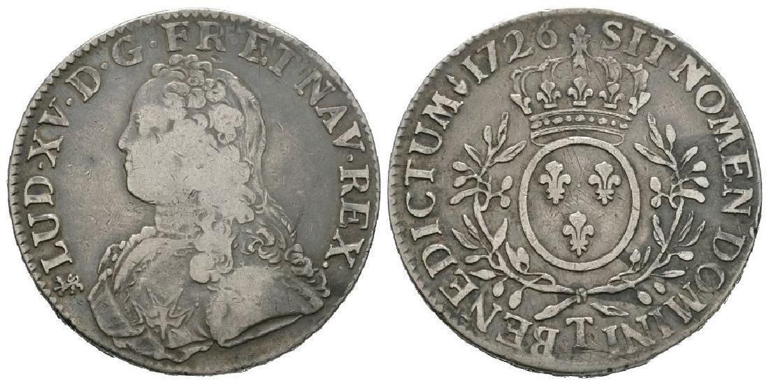 World Coins - France - Louis XV - 1726 T - Ecu