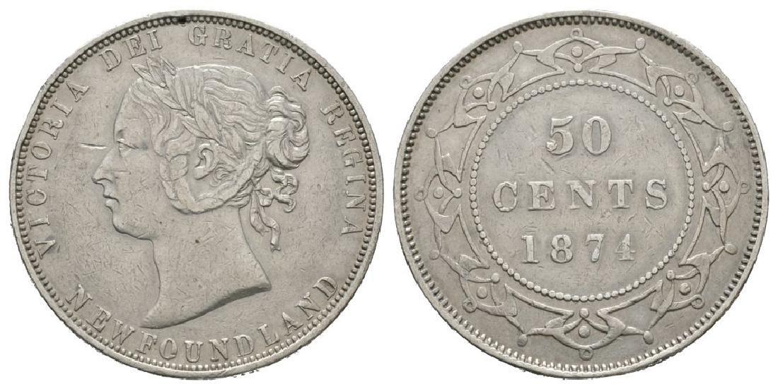 Canada - Newfoundland - 1874 - 50 Cents