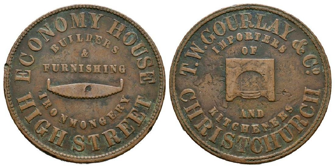 New Zealand - T W Gourlay & Co - Penny Token
