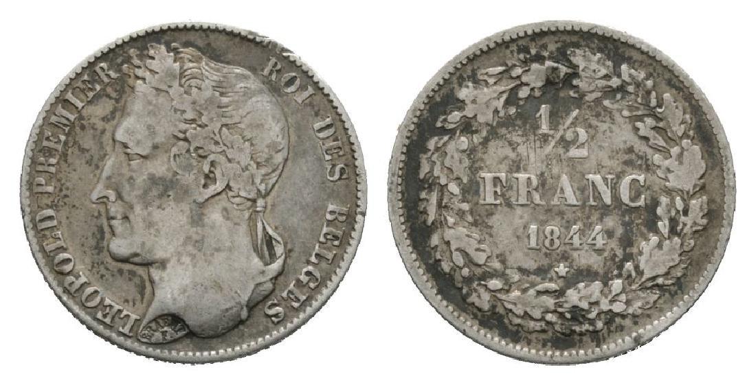 World Coins - Belgium - 1844 - 1/2 Franc
