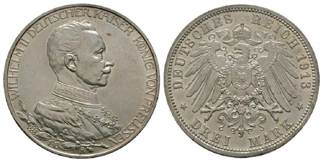 Germany - Prussia - 1913 A - 3 Marks