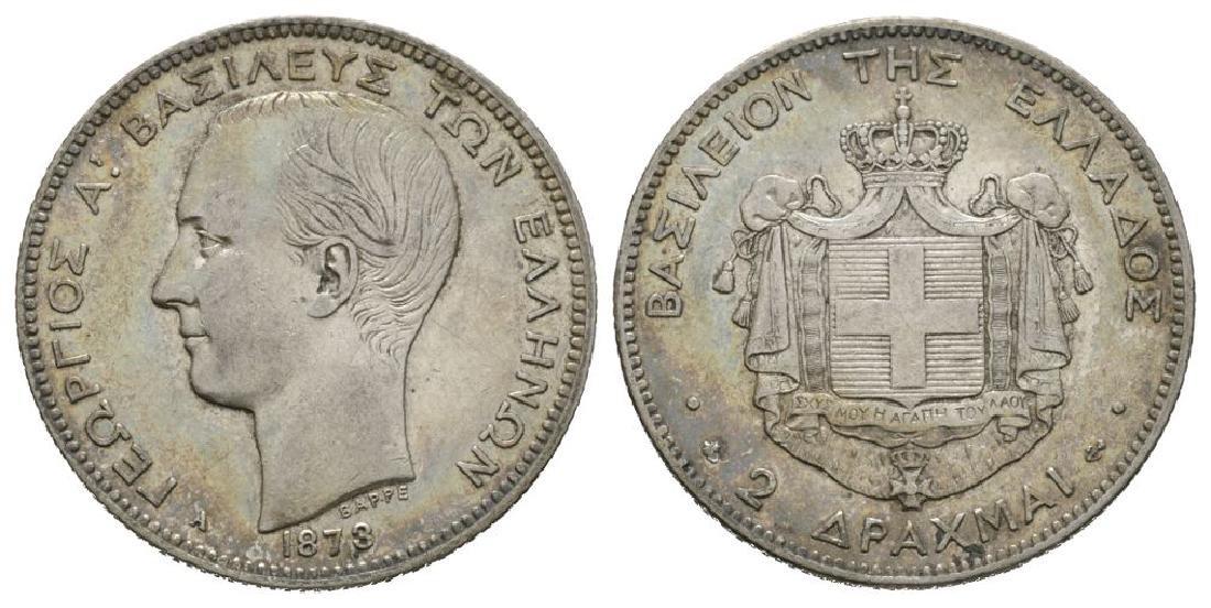 World Coins - Greece - 1873 A - 2 Drachma