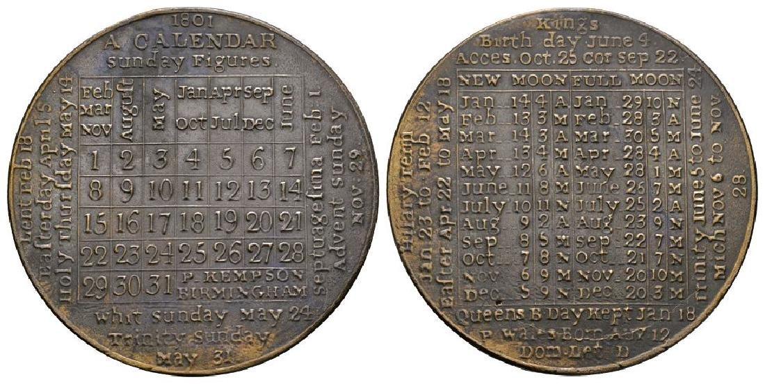 George III - 1801 - Calendar Token