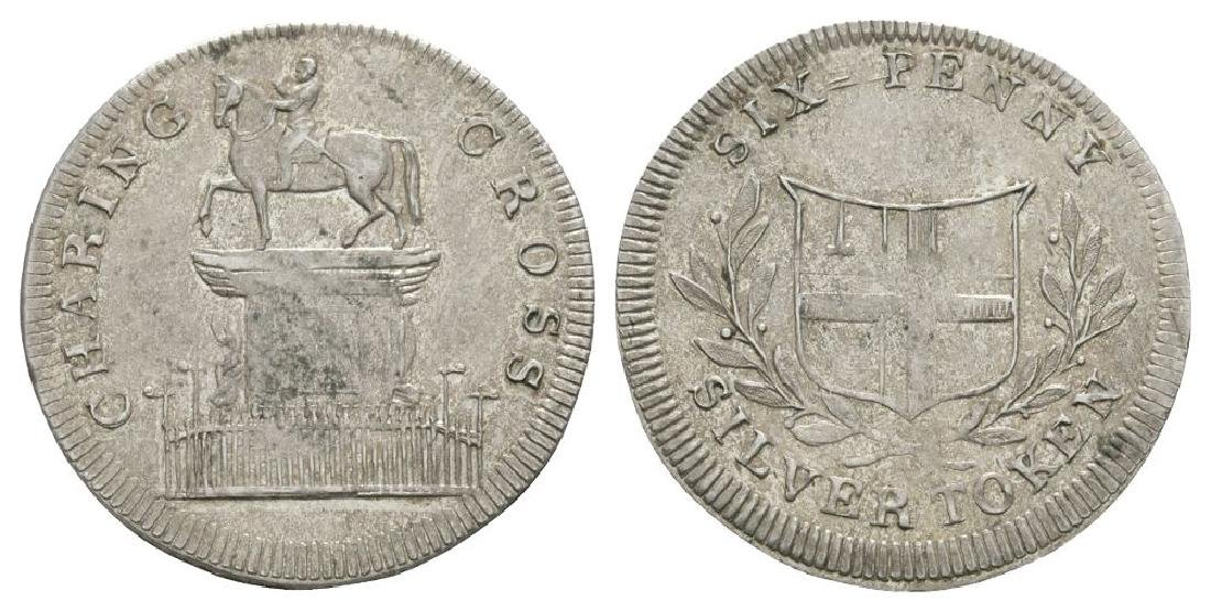 18th Century - Charing Cross - Token Sixpence