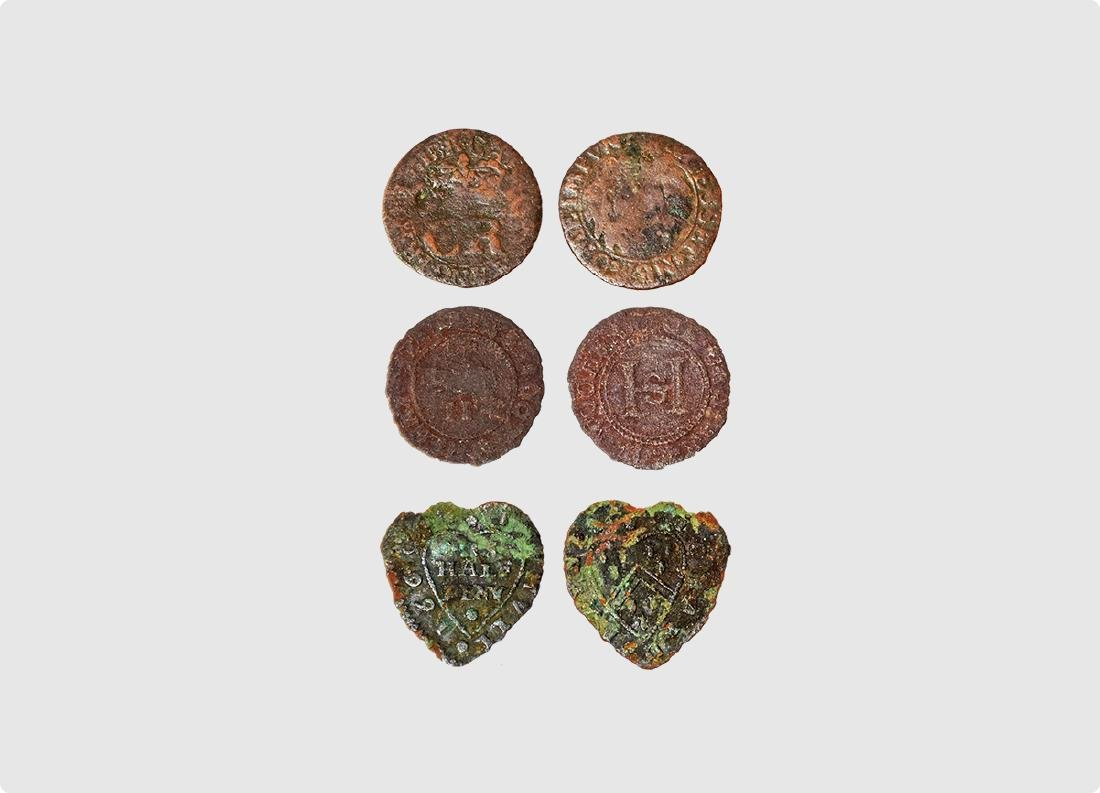 17th Century - Heart-Shaped & Other Tokens [3]