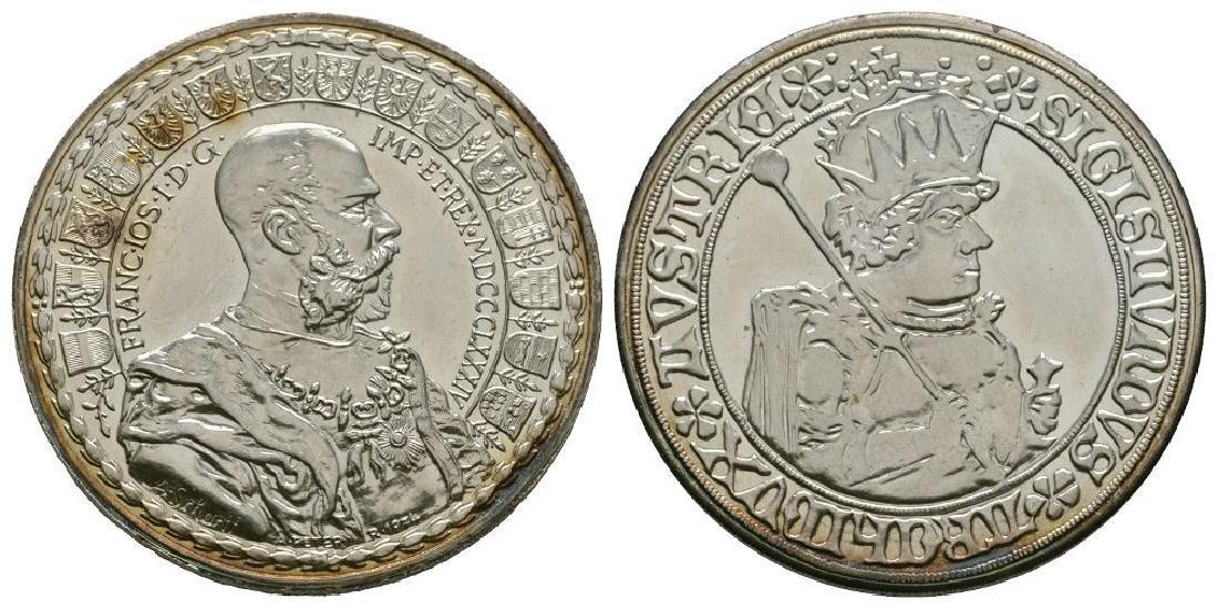 Austria - 1884 - Arc Sigismund Silver Medallion