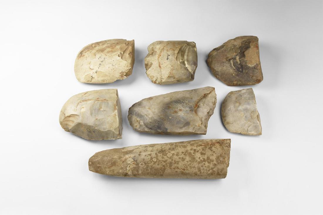 Stone Age Polished Axehead Group