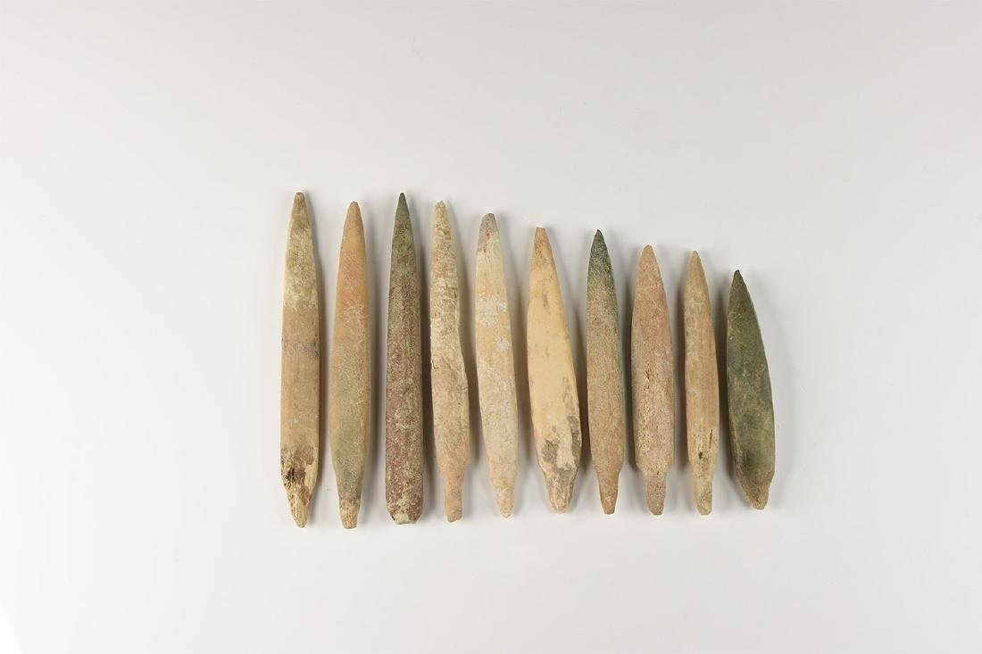 Chinese Liao Bone Arrowhead Collection