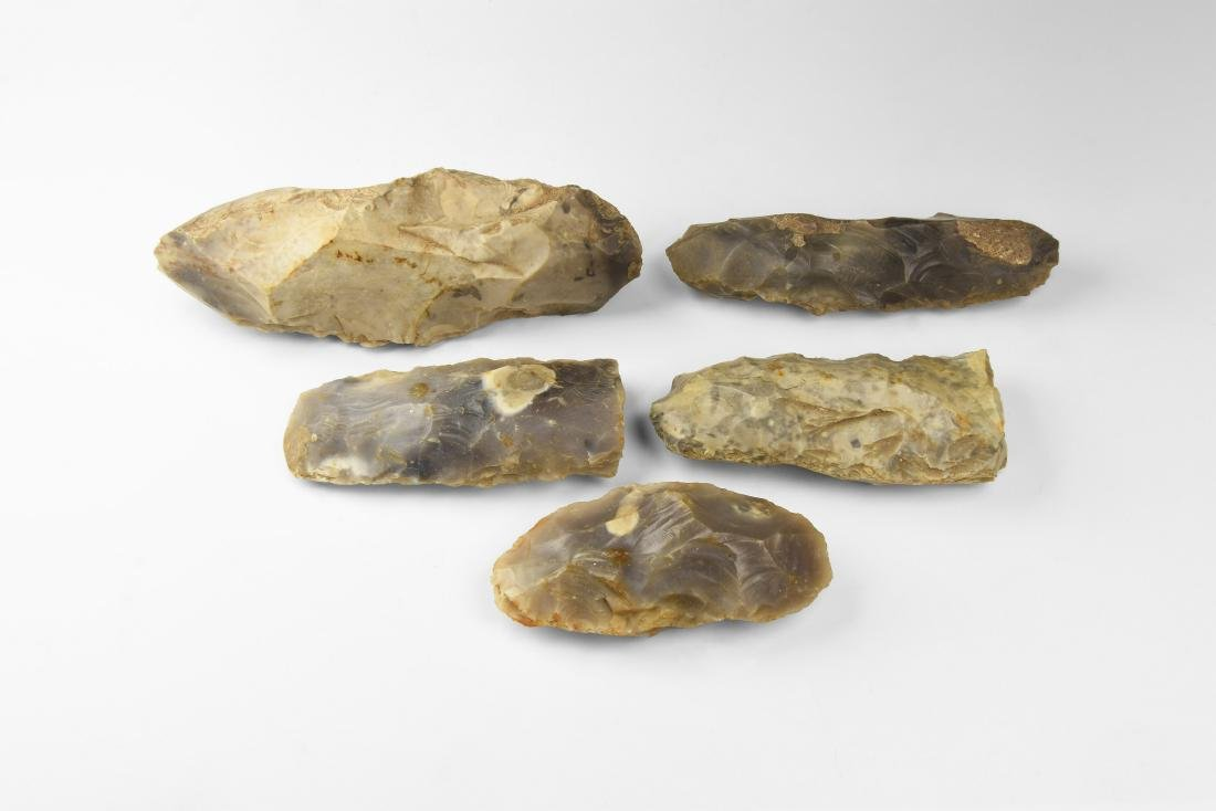 Stone Age Knapped Axehead Group