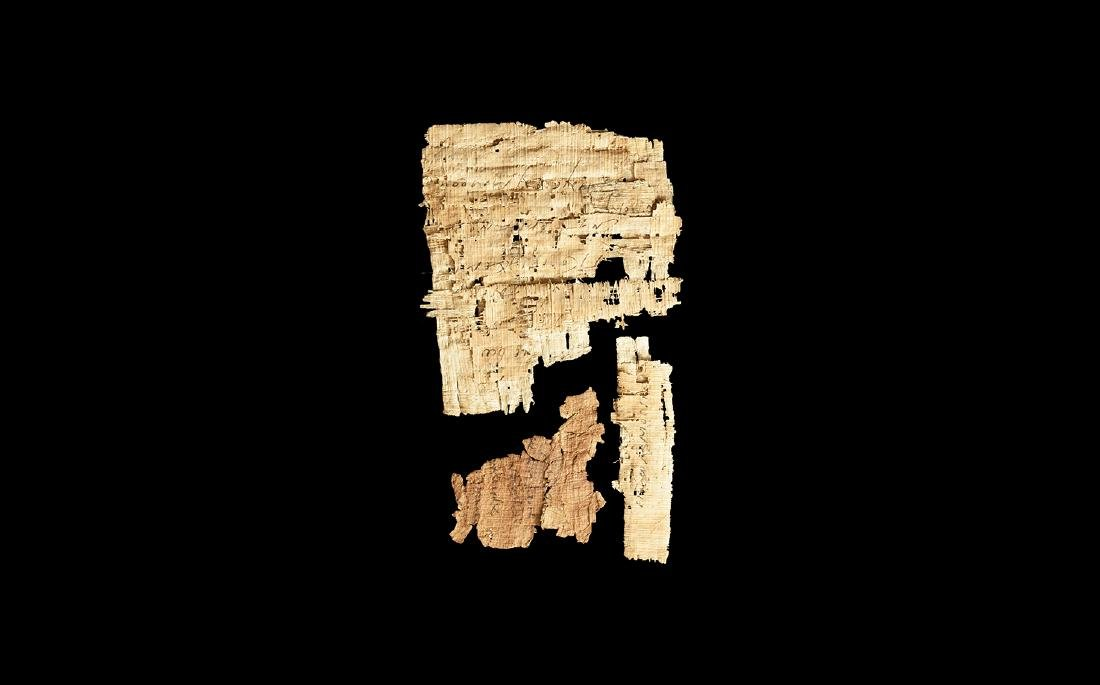 Egyptian Papyrus Page Fragment Group