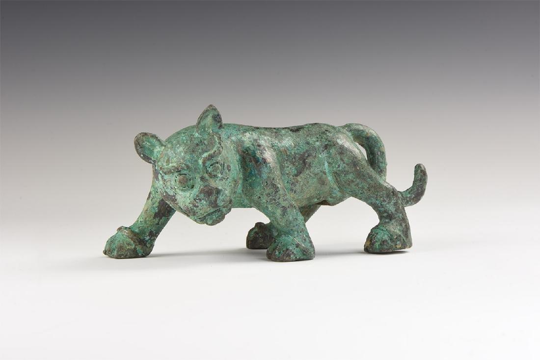 Chinese Style Feline Statuette.