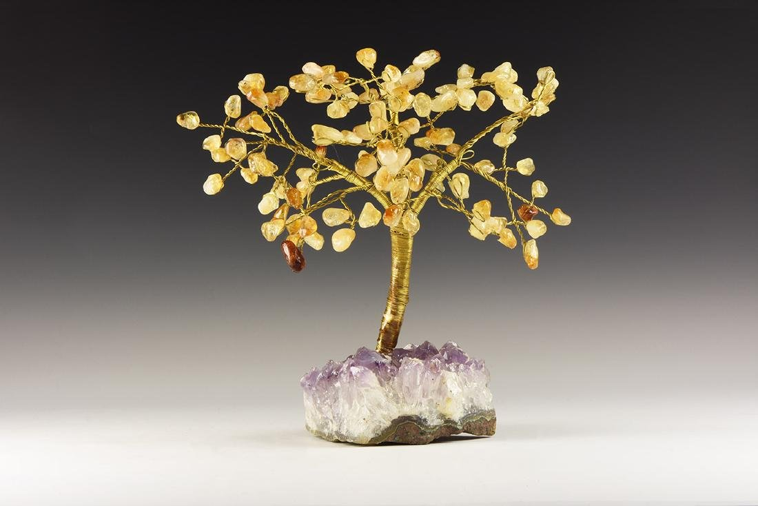 Natural History - Citrine Crystal Display Tree.