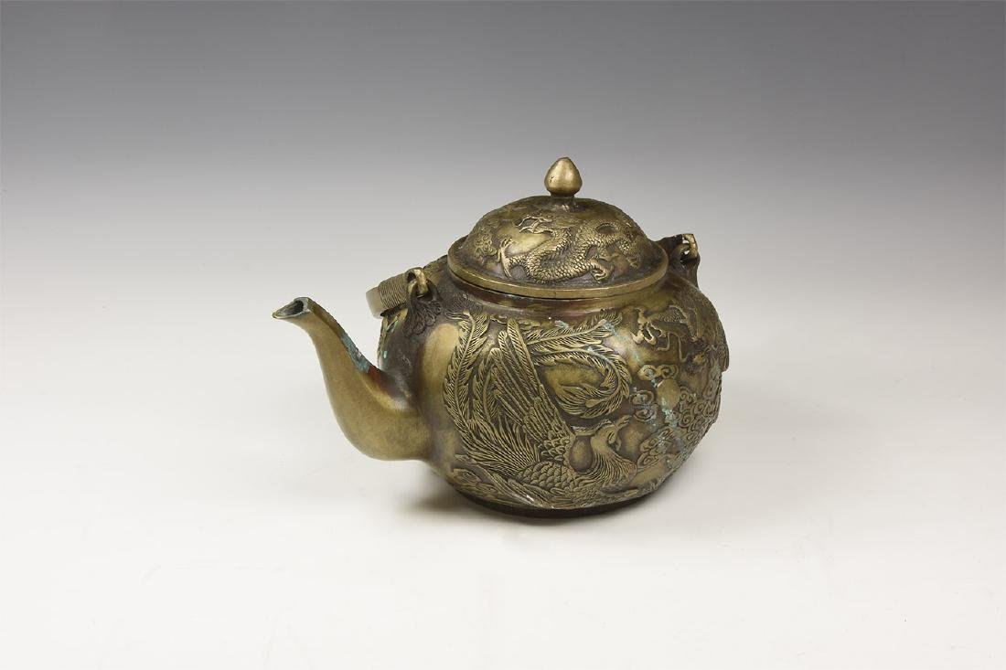Chinese Style Teapot with Dragons.