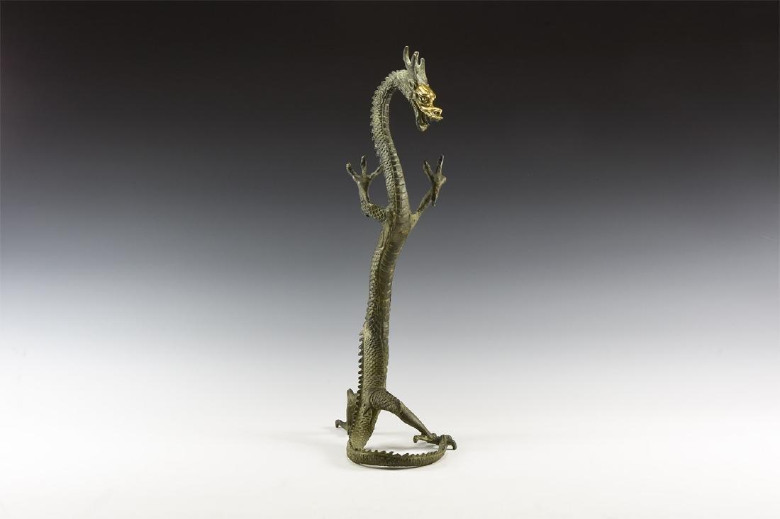 Chinese Gilt Standing Dragon.