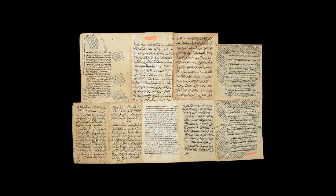 Islamic Mixed Manuscript Page Group