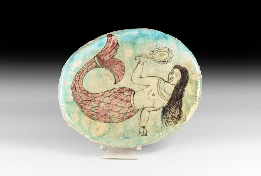 Post Medieval Plaque with Mermaid