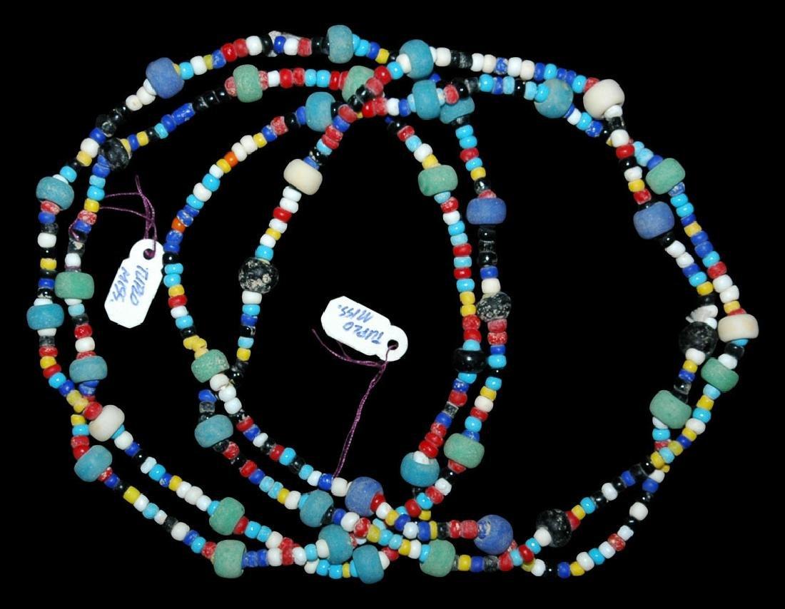 Multicoloured Trade Bead String Group