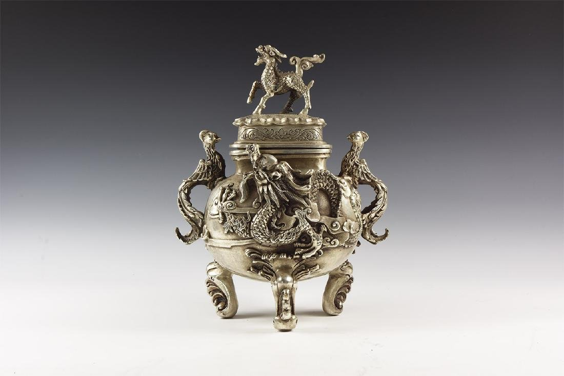 Chinese Style Vessel with Dragons.
