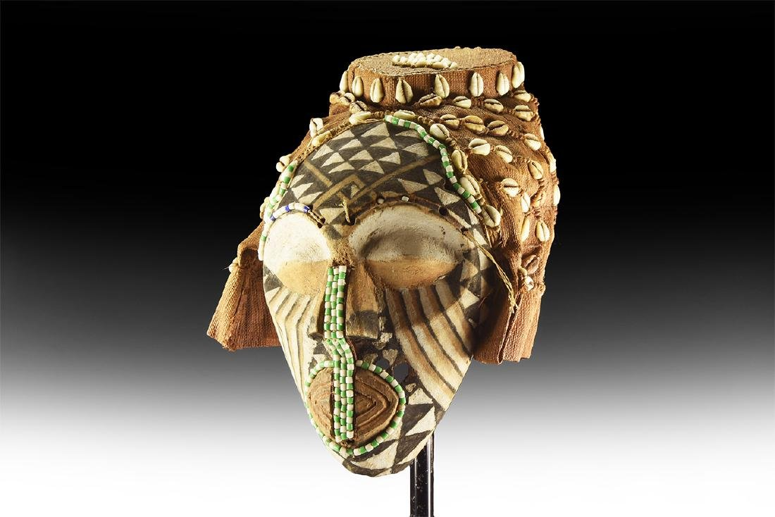 Ethnographic African Mask with Shells